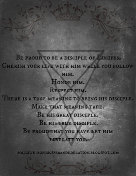 New edit. Be his true disciple.